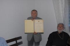 "Уручена Повеља ""Србски родољуб"" проф. др Рајку Долечеку"